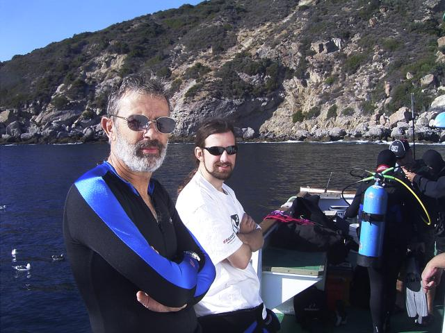 PADI Divemasters Supervising on a boat