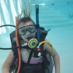 PADI Junior Open Water diver during pool training