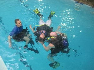 PADI Rescue training during a PADI Instructor Development Course